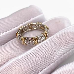 Estilo ocidental Original 100% S925 Sterling Silver Ring Sixteen Stone Anel Mulheres Logo romance Jóias