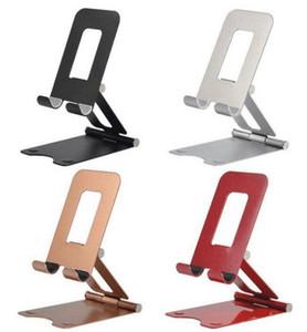 Creative Foldable full metal slacker Phablet holder universal Double folding desktop Live mobile phone support