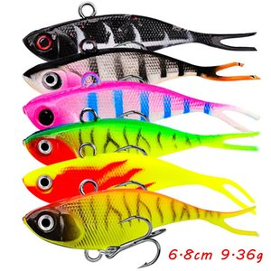 6 Color Mixed 6.8cm 9.36g Jigs Fishing Hooks 8# Hook Soft Baits & Lures Pesca Fishing Tackle B_L016