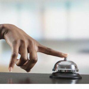 1 unids New Desk Kitchen Hotel Contador Recepción 8.5cm Navidad Craft Cat Bell Bell Bar Bar Ringer Call Bell Service Ring