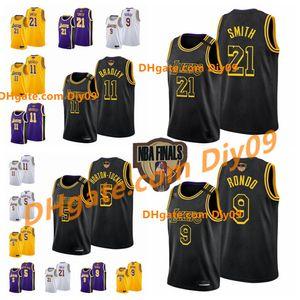 Finale Black Mamba 21 J.R. Smith Los AngelesLakersAvery 11 Bradley 9 Rajon-rondoNBA 5 Horton-tucker Basketball-Stadt Trikots