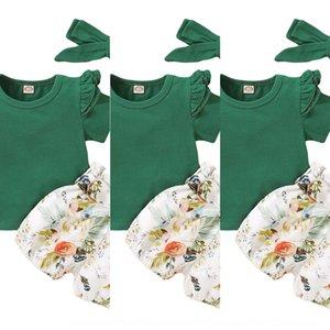 Сюдкц популярный носить новое растение цветок принт с коротким рукавом и костюмом популярные детские носить новое растение цветок с коротким рукавом