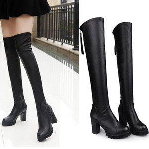 2020 New Shoes Women Boots Black Over the Knee Boots Sexy Female Autumn Winter lady Thigh High