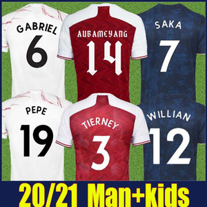 2020 2021 The Gunners Football Jerseys Co-Branded Edition Rouge Home Shirts 20/21 FC Gunners Hommes Enfants Enfants Football Football Jerseys Uniformes