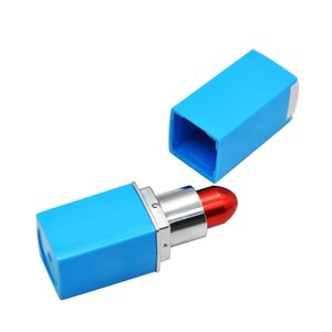 Newest Lipstick Metal Pipe Hide High Quality Mini Smoking Pipe Tube 22mm Diameter Portable Unique Design Easy To Carry Clean Hot Sale