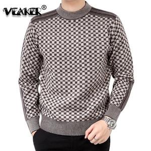 Pull Mens hiver épais chaude cachemire col rouleau homme tricoté Pulls à carreaux Slim Fit Pullover Pull Homme classique en laine tricotwear