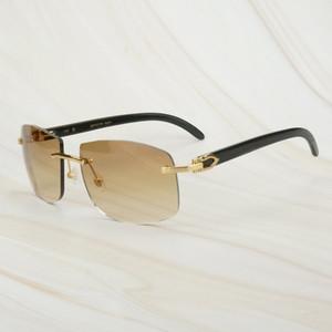 2020 Retro Black Buffalo Horn Sunglasses for Mens Sun Glasses for Decoration Fishing Driving Club Outdoor Equipment Carter Sunglasses