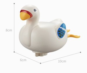 Hot selling stylish baby bath toy wind-up toy water swim little white goose duck bathroom toy