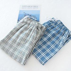 Erkek Pijama FDFKLak Ev Pantolon Erkekler Için Pijama Pantolon Erkek Ekose Uyku Dipleri Bahar Yaz Alt Pijama Pantolon1