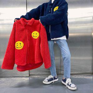 New Cpfm. Xyz Jas Men Women Best Quality 1:1 Warm Hairy Smiley Face Kanye West Green Blue Jacket
