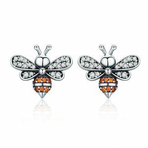 Mini Mini Honey Bee Bumblebee orecchino cz orecchini orecchini orecchini 925 regalo in argento sterling