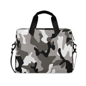 Business Briefcase Men Bag Army Fan Camouflage Printing Computer Laptop Handbag Male Shoulder Messenger Bags Men's Travel Bags Q0119