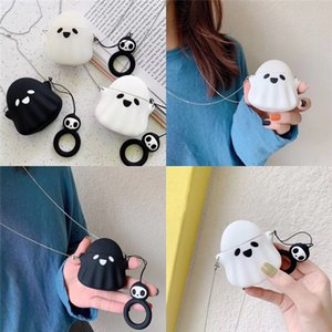 Cartoon Little Ghost Suitable For Earphone Protective Cover Bluetooth Wireless Headset Cover Couple Silicone Cute Earphone set