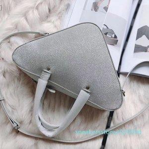 5Sliver big triangle brand designer fashion luxury ladies handbag women shoulder bags crossbody size: 31x18cm hot sale free shipping s09
