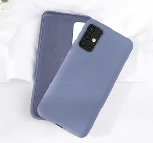 Liquid Sile Phone Case For Samsung Galaxy A50 A70 A51 A71 S10 S20 Plus Note 8 9 10 20 Ultra Soft Shockproof Case sqcwLqa
