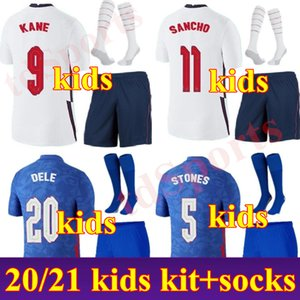Новый 2020 Kid Kit Kit Англия Футбол Джерси 20 21 Rooney Kane Strurridge Стерлинг Henderson Varry Youth Boys Football Tehersys Calkio Рубашка