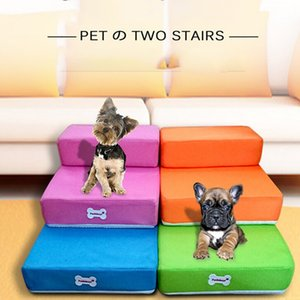 Dog Stairs Pet 2 Steps Stairs For Small Dog Cat Dog House Pet Ramp Ladder Anti-slip Foldable Dogs Bed Stairs Pet Supplies Hot 201130