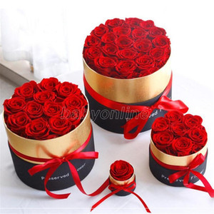 Hot 2021 Eternal Rose in Box Preserved Real Rose Flowers With Box Set Romantic Valentines Day Gifts The Best Mother's Day Gift