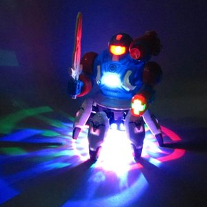 Creative Electric Dancing Robot Toy Light And Delicate Six Claw Fish Dancing Robot Toy Fashion Cool Light Music Gifts for children