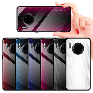 For iPhone 12 Pro Max Protective Anti-Scratch Gradient Tempered Glass Case Colorful Back Cover for 11 Pro Max XS XR HUAWEI Xiaomi