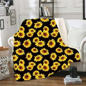 XC Ushio Hiver Sunflower Saupord Blanket Adultes Enfants Chaud Three Chauffeuse Couvertures Couverture de lit Jeux de Noël Fleece Couverture1