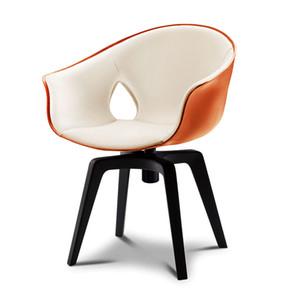 Nordic designer estudo computador cadeira de couro braço de braço giratória cadeira ginger cadeira