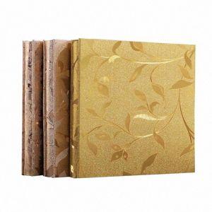 New 800 Pocket PU Leather Retro Engraving Manual DIY Interstitial Children Photo Collection Wedding Scrapbook Ln4N#