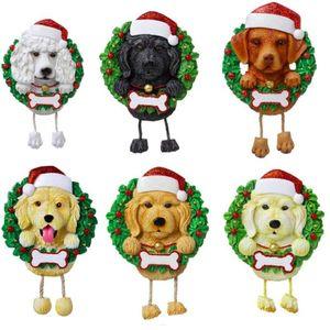 DHL 2021 الساخنة الكلاب diy اسم الرسالة قلادة عيد الميلاد الحلي pvc كلب قلادة جديد شجرة عيد الميلاد قلادة زخرفة