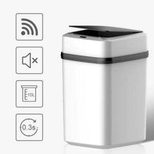 Автоматический беззаконный мусор для мусора может умный датчик большой автоматический мусор для мусорных линий мусорных корзин для кухни Cubo Basura с крышкой E5 LJ201128