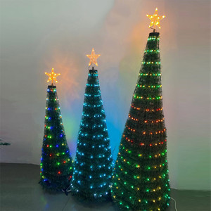Holiday lights 1.2M 1.5M 1.8M Christmas Tree With RGB Dream Color Changing LED String Lights For Party Holiday Christmas Decorations