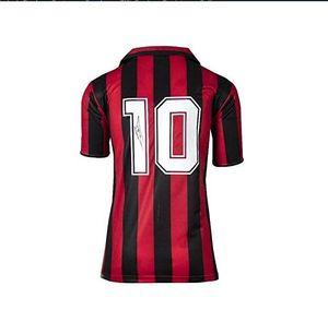 Ruud Gullit siyah İmzalanmış signatured İmzalı Jersey gömlek kırmızı