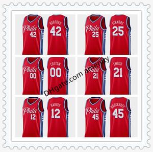 76ers personnaliséscrême PhiladelphiaHarris 21 Embiid 22 Thybulle 25 basket-ball Simmons Tobias Joel Ben Matisse Jersey édition de déclaration