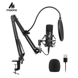 Maono Professional Studio Microfone Podcast USB Microfone Kit Karaoke Condensador Microfone Para Computador YouTube Gravação 201110