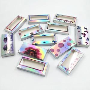 New holographic lashes box100 200pcs soft paper eyelashes packaging for 10mm-25mm false eyelashes