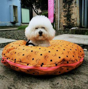 PU couro Pet Sofá Waterproof cama do gato do cão Poodle Bichon Bulldog Camas Moda Impresso filhote de cachorro Kennels
