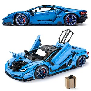MOC APP RC Technic Supercar Veneno Lambor Aventador SIAN Centenario 1:8 Roadster Power Function Vehicle Building Blocks Kid Toys X0102