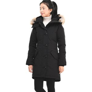 Classic Canada Women Rossclair Parka High Quality Long Hooded Wolf Fur Fashion Warm Down Jacket Outdoor warm coat
