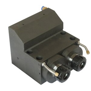 Two-axis gear power head in one shell brass material gear drive coupling connection center height 36MM ER25-2Z-C60