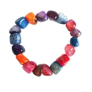 Yoga Ethnic Multicolore Natural Natural Irregular Stone Perles Beads Bracelet pour hommes Femmes Faintes 7 Bracelets Chakra Bracelet Hommes