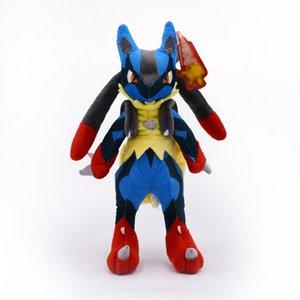 28cm Doll Center Mega Lucario XY Peluche ripieno giocattoli morbidi per bambini di alta qualità spedizione gratuita 201204