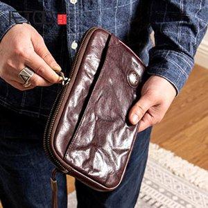 Saco de mão de HBP Aetoo, bolsa de pulso de couro de couro de couro, couro de couro de couro multi-card, carteira multi-funcional