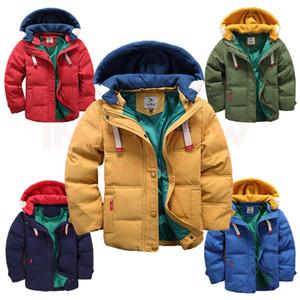 Inpepnow 2020 Freizeitjacke Warm Overall Boy Winter Kids Down-Parkas der Kinder für Mädchen Mantel-Oberbekleidung