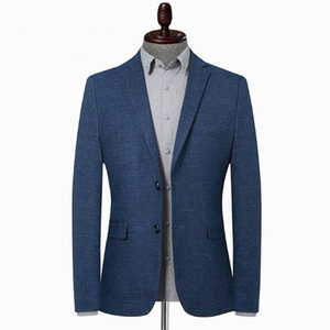 Men's Leisure Suit Blazer Solid Color Casual Blazer Jacket Outwear Coat Office Dress Wedding Male Clothing