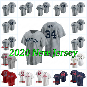 34 David Ortiz 2020 New Baseball Jersey Andrew Benintendi Ted Williams J. D. Martinez Carl Yastrzemski Matt Barnes Chris Venda Jim Rice