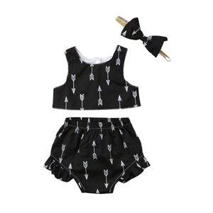 Pudcoco Прекрасной Новорожденных Детей Девочка Одежда рукава Топы Шорты наряды Наборы 0-18 месяцев Helen115