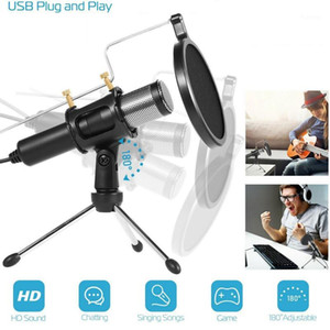 New Live Microphone Tripod Stand USB Condenser Microphone Tripod Stand For Tik Tok Live Streaming Audio Recording1