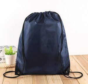 Outdoor Waterproof Bag Nylon Drawstring Bag String Backpack For Women Men Travel Storage Package Teenage wmtbEG my_home2010