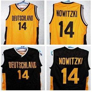 Пользовательские 604 молодежные женщины Vintage # 14 Dirk Nowitzki Team Deutschland Германия Баскетбол Джерси Размер S-4XL или пользовательское любое имя или номер Джерси