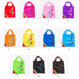 Strawberry Folding Shopping Bags 11 Colors Home Storage Bag Reusable Grocery Tote Bag Portable Folding Shopping Convenient Pouch