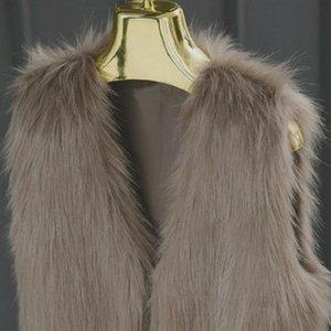 Faroonee Donne Gilet maglia sottile brevi Faux Fur Giacche senza maniche Cappotto invernale casuale Peloso Outwear Bianco Nero Y200109 I54Z #